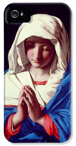 The Virgin In Prayer IPhone 5 Case by Il Sassoferrato