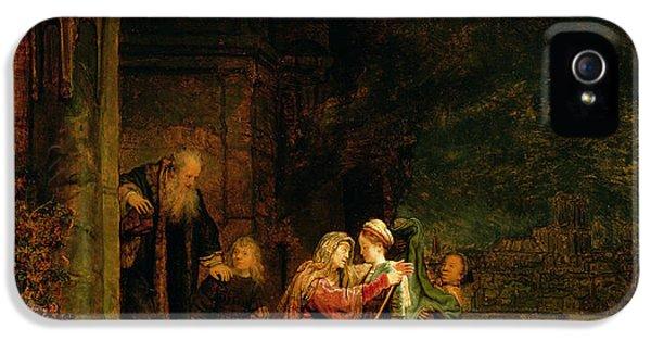 The Visitation IPhone 5 Case by  Rembrandt Harmensz van Rijn