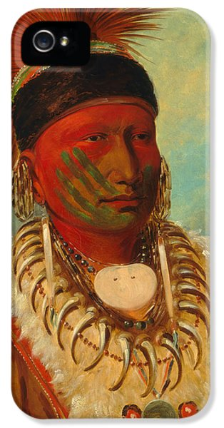 The White Cloud, Head Chief Of The Iowas IPhone 5 Case by George Catlin