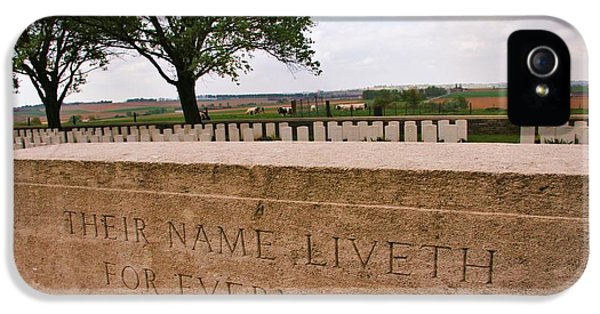 Their Name Liveth For Evermore IPhone 5 Case by Travel Pics