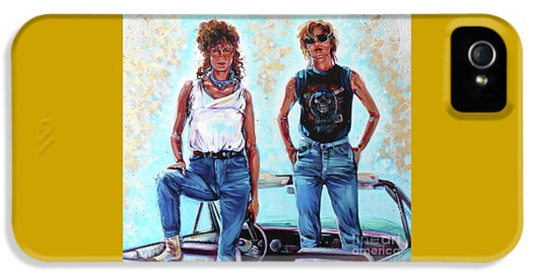 Thelma And Louise IPhone 5 Case by Kelly Boyett