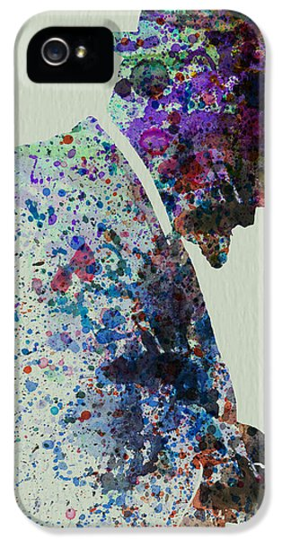 Saxophone iPhone 5 Case - Thelonious Monk Watercolor 1 by Naxart Studio
