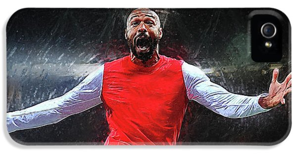 Thierry Henry IPhone 5 Case by Semih Yurdabak