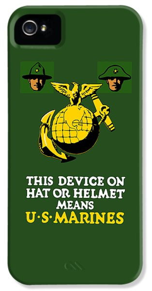 This Device Means Us Marines  IPhone 5 Case by War Is Hell Store