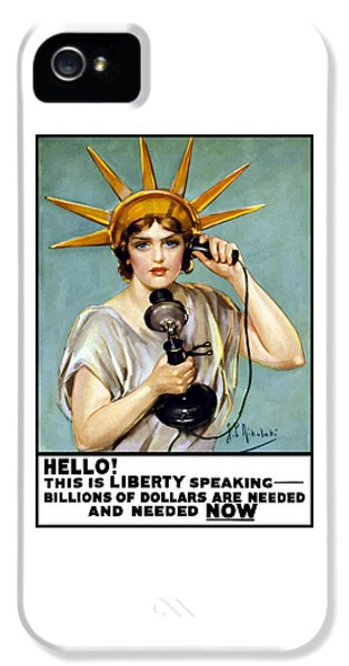 This Is Liberty Speaking - Ww1 IPhone 5 Case by War Is Hell Store