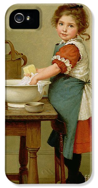 This Is The Way We Wash Our Clothes  IPhone 5 Case by George Dunlop Leslie