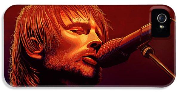 Drum iPhone 5 Case - Thom Yorke Of Radiohead by Paul Meijering