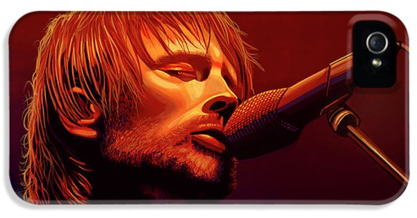 Drum iPhone 5 Case - Thom Yorke Of Radiohead by Paul Meijering