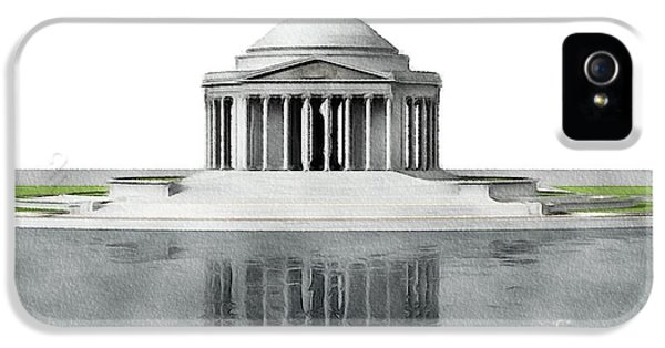 Washington Monument iPhone 5 Case - Thomas Jefferson Memorial, Washington by John Springfield