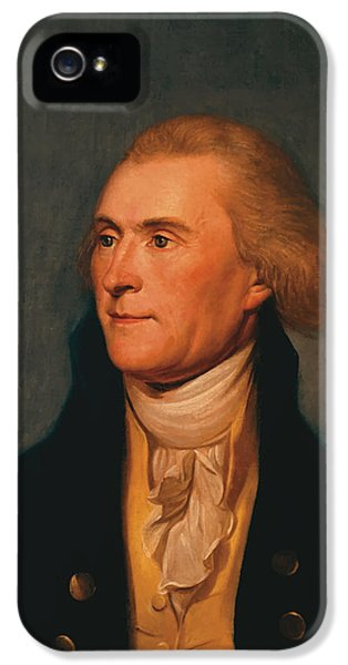 Thomas Jefferson iPhone 5 Case - Thomas Jefferson by War Is Hell Store