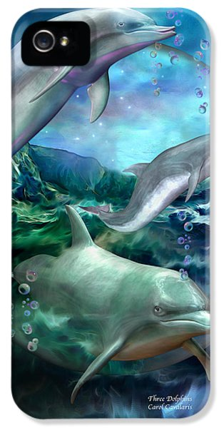 Three Dolphins IPhone 5 Case
