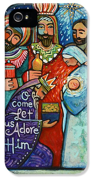 Three Kings O Come Let Us Adore Him IPhone 5 Case by Jen Norton