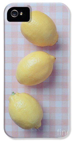 Lemon iPhone 5 Case - Three Lemons by Edward Fielding