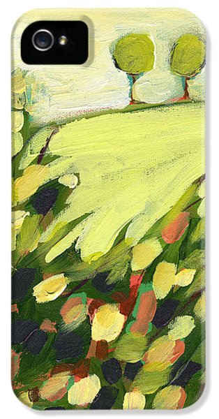 Day iPhone 5 Case - Three Trees On A Hill by Jennifer Lommers