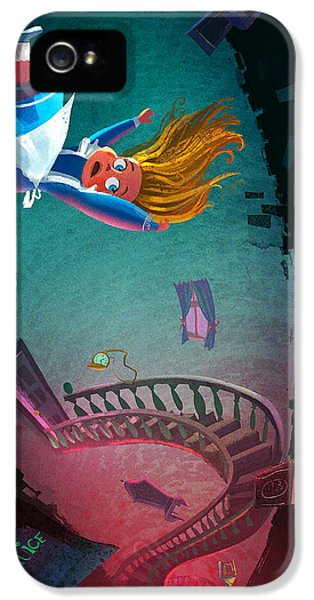 Fairy iPhone 5 Case - Through The Rabbit Hole by Kristina Vardazaryan