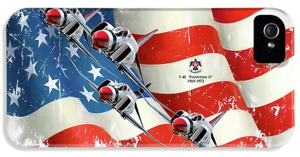 Thunderbirds F-4e Phantom II IPhone 5 Case by Peter Chilelli