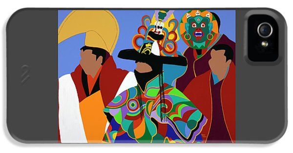 iPhone 5 Case - Tibetan Monks Cham Dancer by Synthia SAINT JAMES