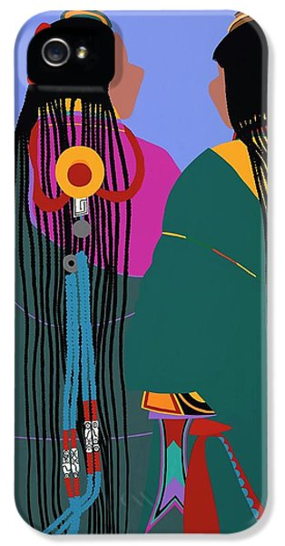 iPhone 5 Case - Tibetan Women by Synthia SAINT JAMES