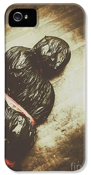 Tied And Wrapped Up Body In Garbage Bags IPhone 5 Case by Jorgo Photography - Wall Art Gallery