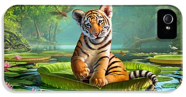 Tiger Lily IPhone 5 / 5s Case by Jerry LoFaro