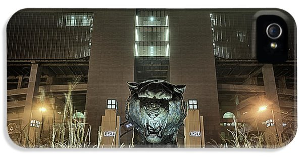 IPhone 5 Case featuring the photograph Tiger Stadium On Saturday Night by JC Findley