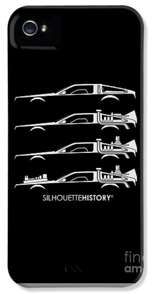 Time Machine Silhouettehistory IPhone 5 Case