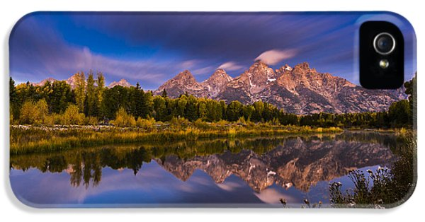 Time Stops Over Tetons IPhone 5 Case by Edgars Erglis