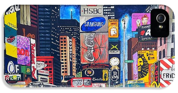Times Square IPhone 5 Case by Autumn Leaves Art