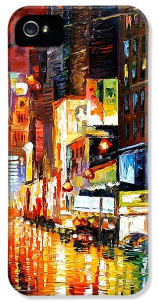 Times Square IPhone 5 Case by Leonid Afremov