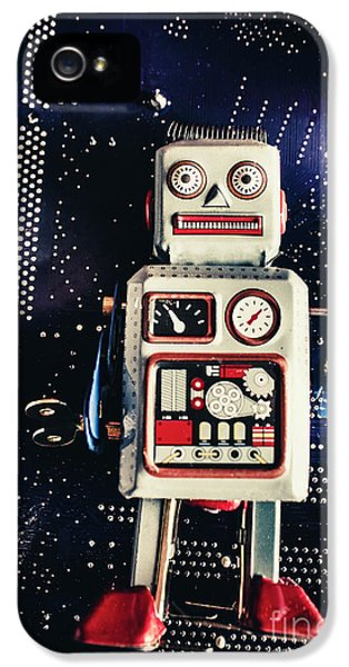 Tin Toy Robots IPhone 5 Case by Jorgo Photography - Wall Art Gallery