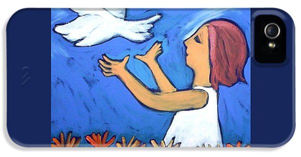 IPhone 5 Case featuring the painting To Fly Free by Winsome Gunning