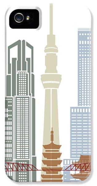 Tokyo V2 Skyline Poster IPhone 5 Case