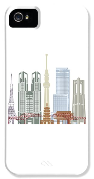 Tokyo V2 Skyline Poster IPhone 5 Case by Pablo Romero