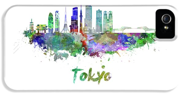 Tokyo V3 Skyline In Watercolor IPhone 5 Case by Pablo Romero
