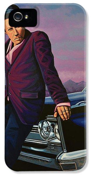 Tom Waits IPhone 5 Case by Paul Meijering