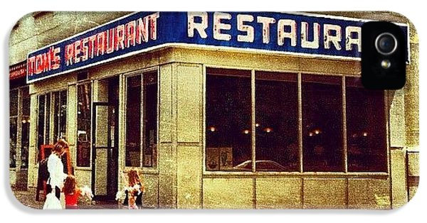 Tom's Restaurant. #seinfeld IPhone 5 Case by Luke Kingma