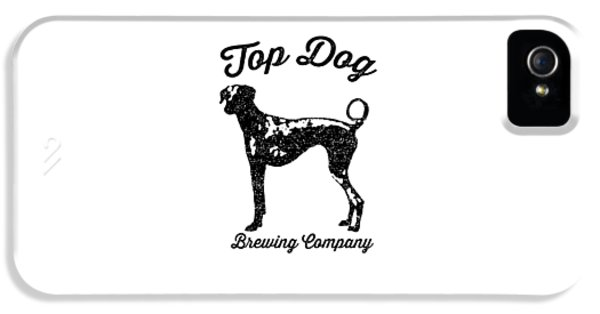 Beer iPhone 5 Case - Top Dog Brewing Company Tee by Edward Fielding