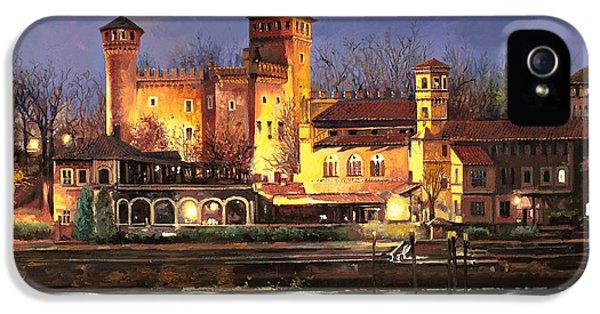 Castle iPhone 5 Case - Torino-il Borgo Medioevale Di Notte by Guido Borelli