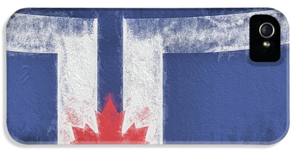 IPhone 5 Case featuring the digital art Toronto Canada City Flag by JC Findley