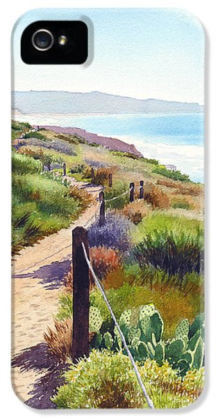 Pacific Ocean iPhone 5 Case - Torrey Pines Guy Fleming Trail by Mary Helmreich
