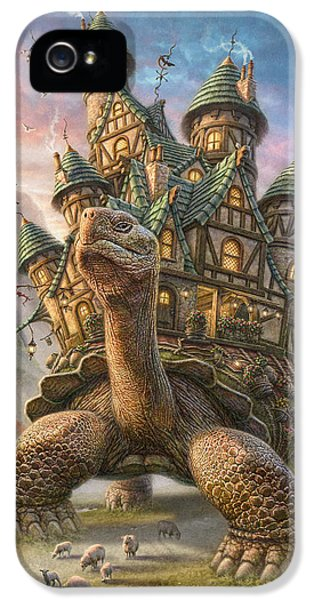 Mountain iPhone 5 Case - Tortoise House by Phil Jaeger