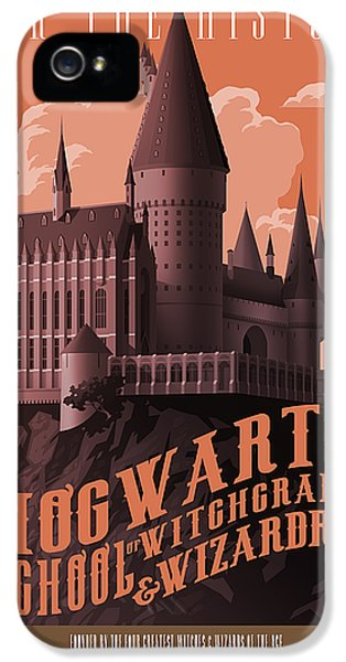Wizard iPhone 5 Case - Tour Hogwarts Castle by Christopher Ables