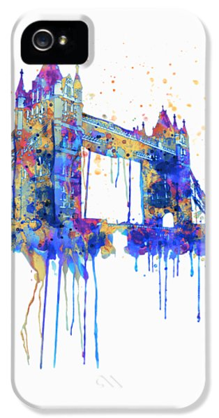 Tower Bridge Watercolor IPhone 5 Case by Marian Voicu
