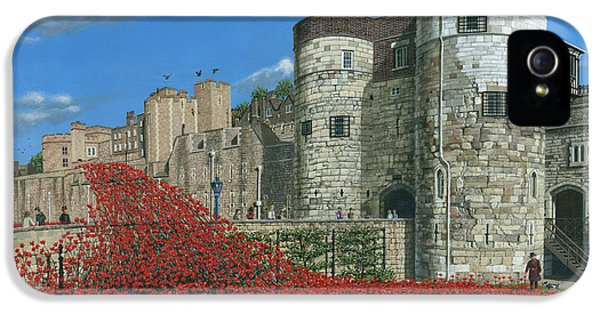Tower Of London Poppies - Blood Swept Lands And Seas Of Red  IPhone 5 Case