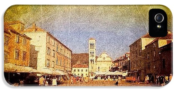 Town Square #edit - #hvar, #croatia IPhone 5 Case by Alan Khalfin