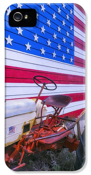 Tractor And Large Flag IPhone 5 Case