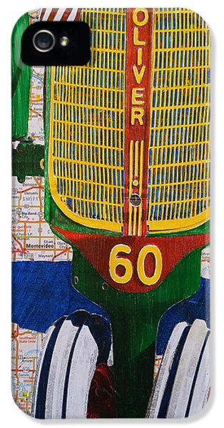 Oliver Tractor iPhone 5 Case - Tractor Memories Of Minnesota by John Parish