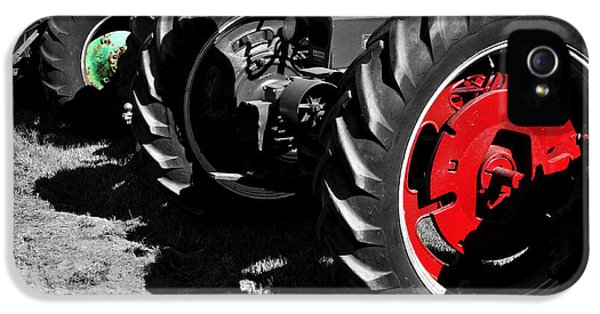 Oliver Tractor iPhone 5 Case - Tractor Wheels by Luke Moore