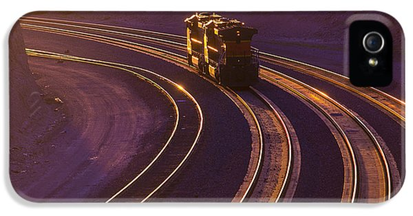 Train iPhone 5 Case - Train At Sunset by Garry Gay