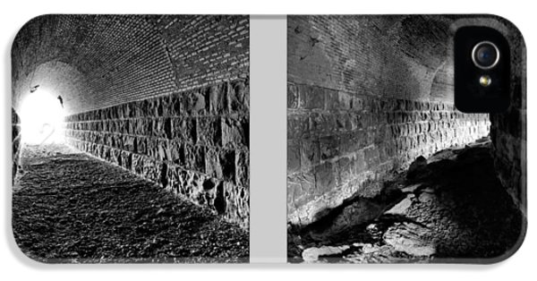 Train Tunnel Diptych IPhone 5 Case by Leland D Howard